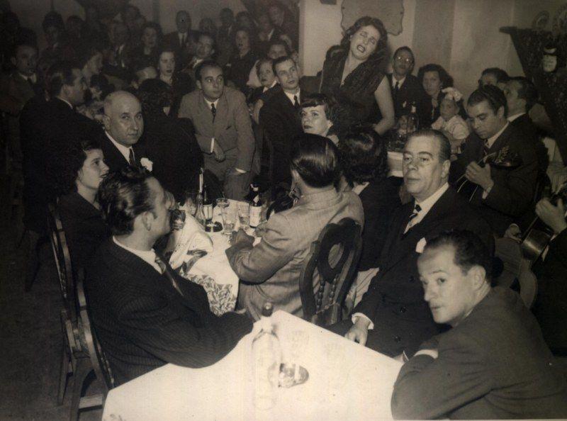 Fernando Farinha, Amália Rodrigues e Domingos Camarinha (28 de Maio de 1951).