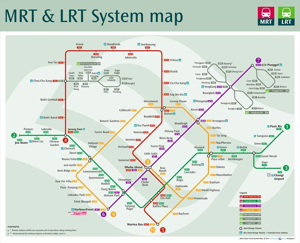 Singapore Subway Map