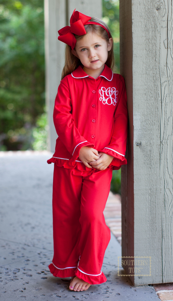 Red Knit Monogram Holiday Loungewear only  25 at www.southerntots.com! a5b4dc32d