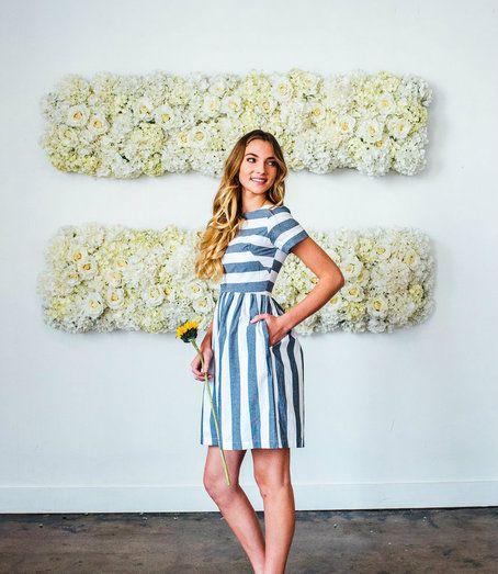 9a7c83df5bd KAI Striped Dress Blue   White