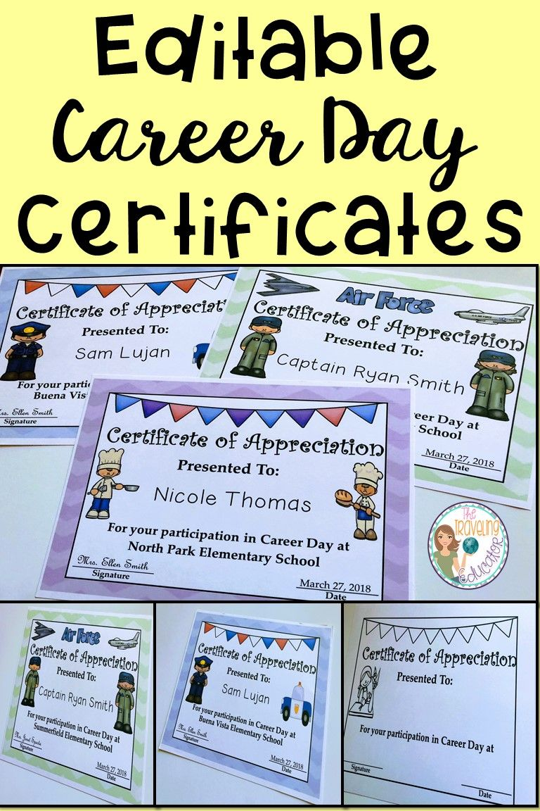 Check out these career day printable certificates for your check out these career day printable certificates for your elementary career day presenters these editable career day certificates are perfect for your yadclub Image collections