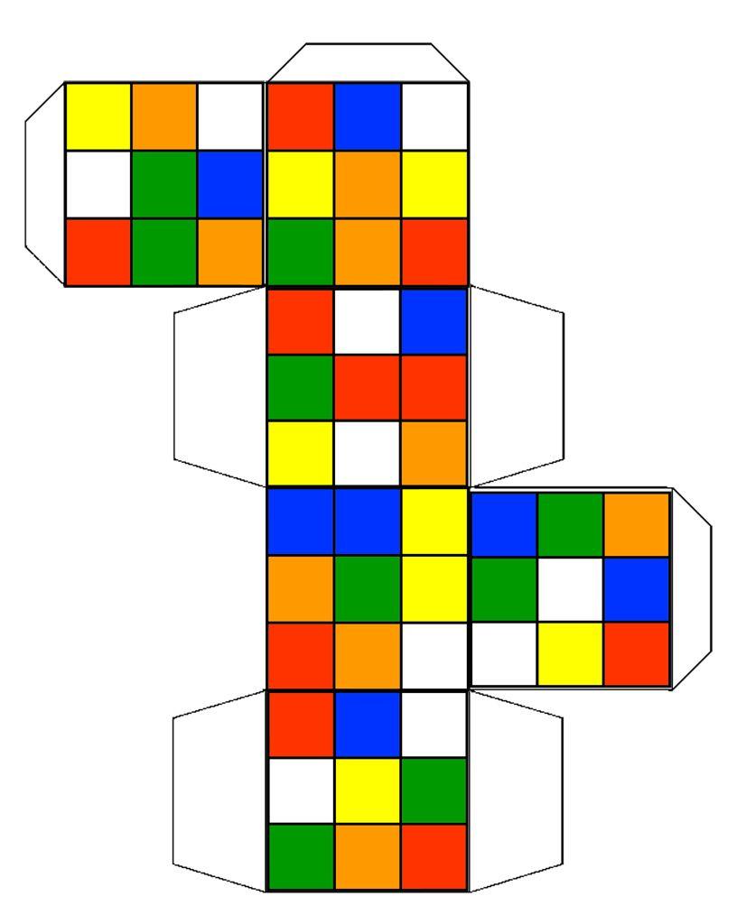 Rubix Cube Template By Barnman Deviantart Com On Deviantart