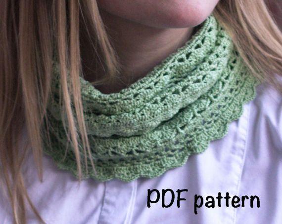 Scarf Crochet Pattern Scarf Pattern Pdf Cowl Pattern Neck Warmer