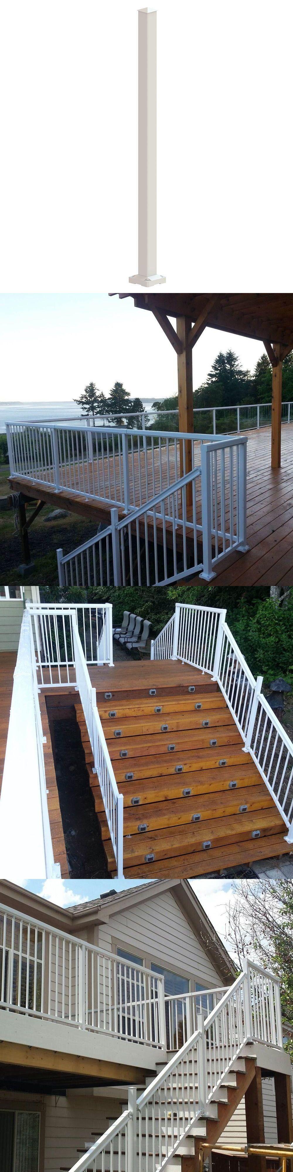 Best Railings 139950 Peak Aluminum Railing Stair Post White 640 x 480