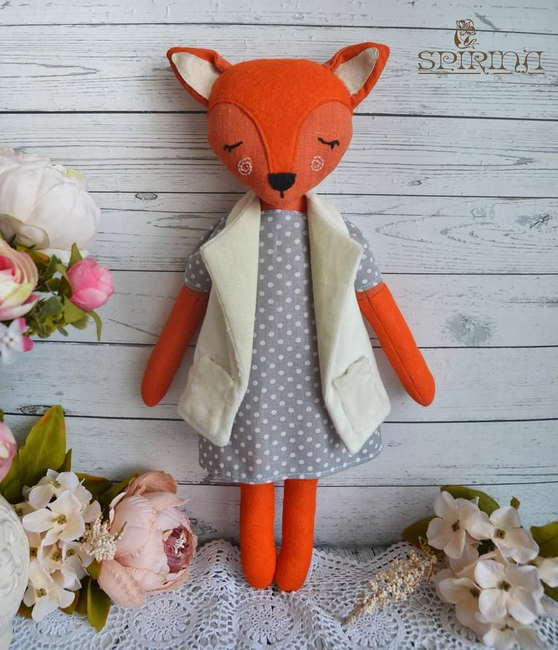 Fox Toy Fox Personalized Baby gifts girls Kids toys ...
