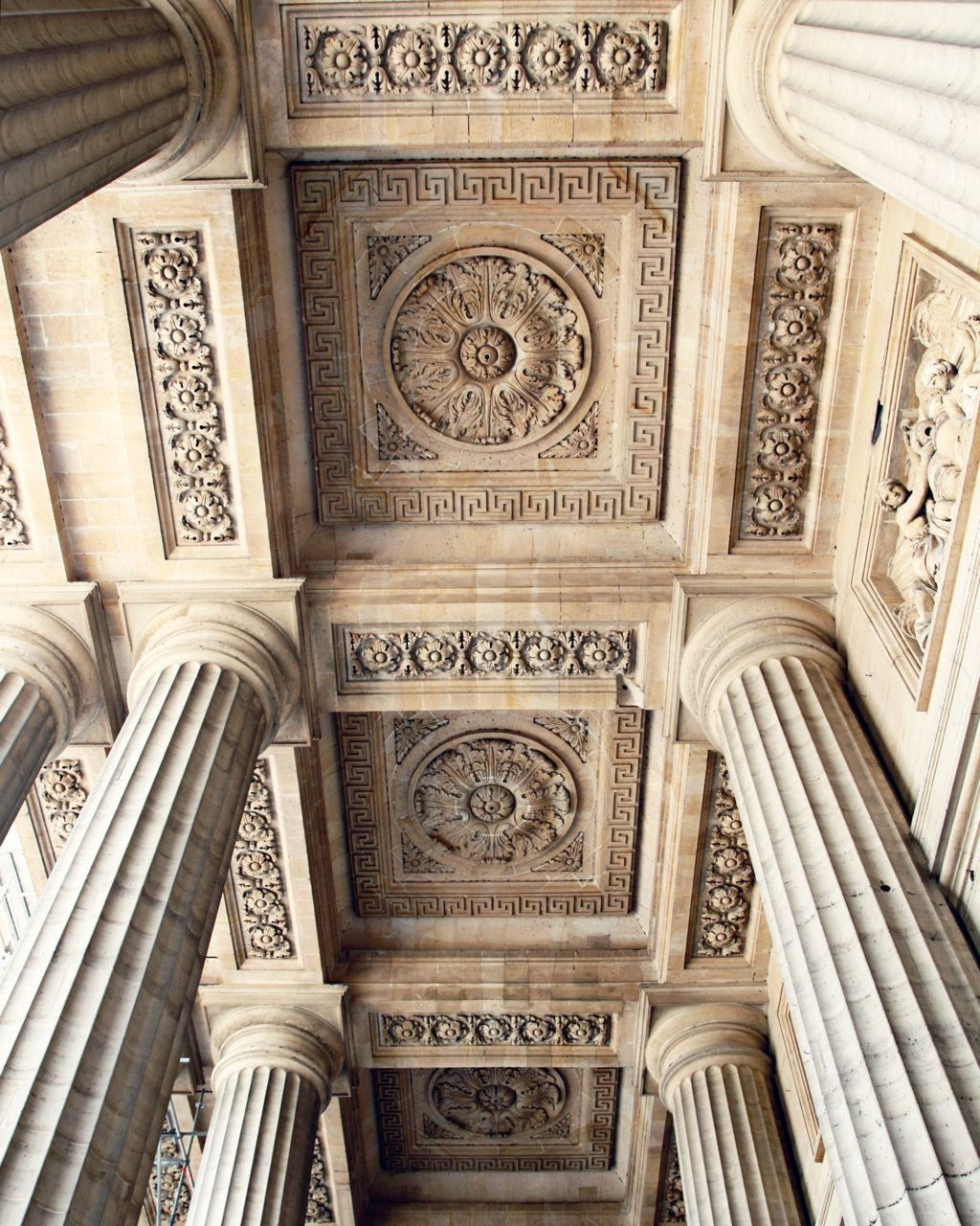 paris architecture photography photo of columns saint sulpice print parisian decor paris france photo neutral elegant french decor - Roman Design Architecture