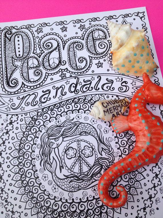 COLORING BOOK PEaCe MANDALAS Coloring Book You by
