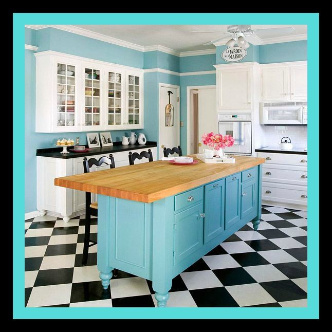 Add style, efficiency, and storage to your kitchen with an island.  #lauraashleykitchens