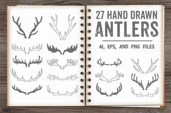 Antlers Pack - Illustrations by Coral Antler Creative