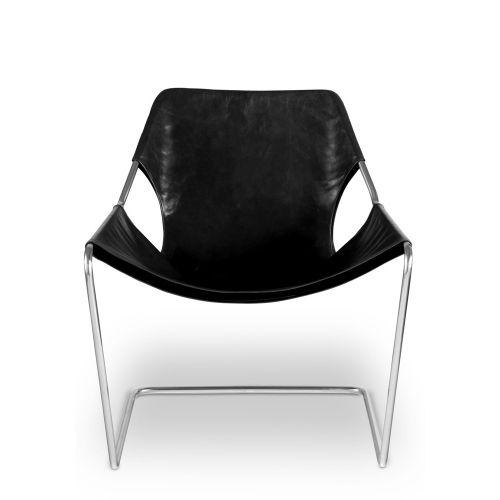 paulistano chair black leather cover alvar aalto sao paulo and