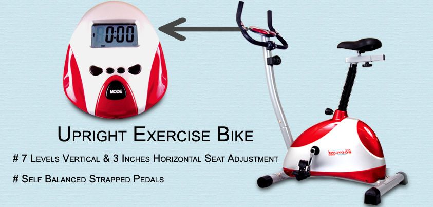 Buy Highly Advanced 7 Levels Vertical Upright Exercise Bike Low