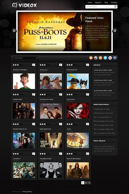 Videox Video WordPress Themes by Hugo | Movie Website | Pinterest