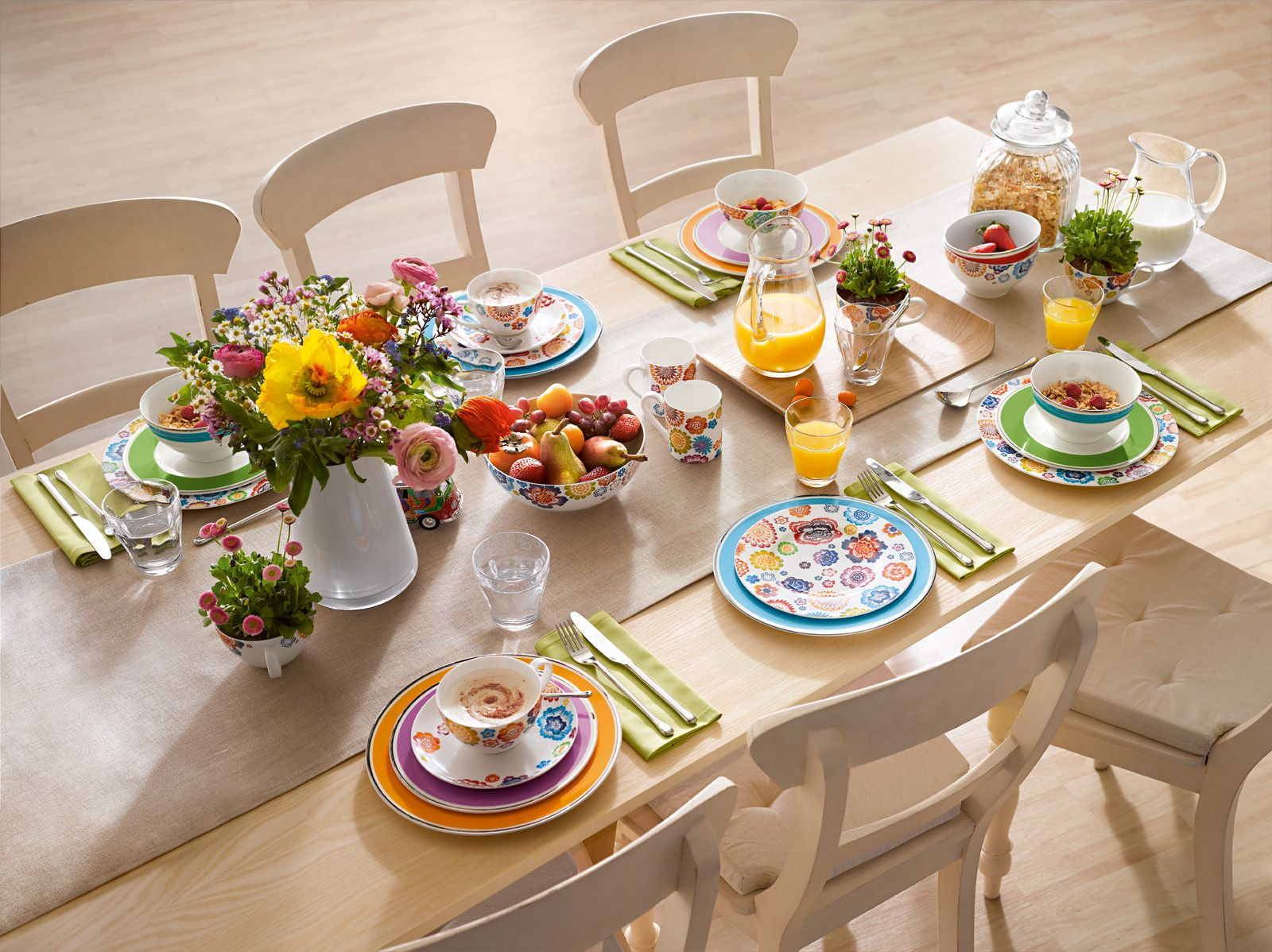 For A Lively Colorful Table Setting Try Our Anmut My Colour Which Color Is Up To You Recette Brunch Alimentation Idee Recette