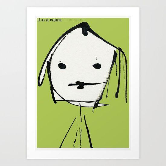 « têtes de caboche .3 »   Art Print