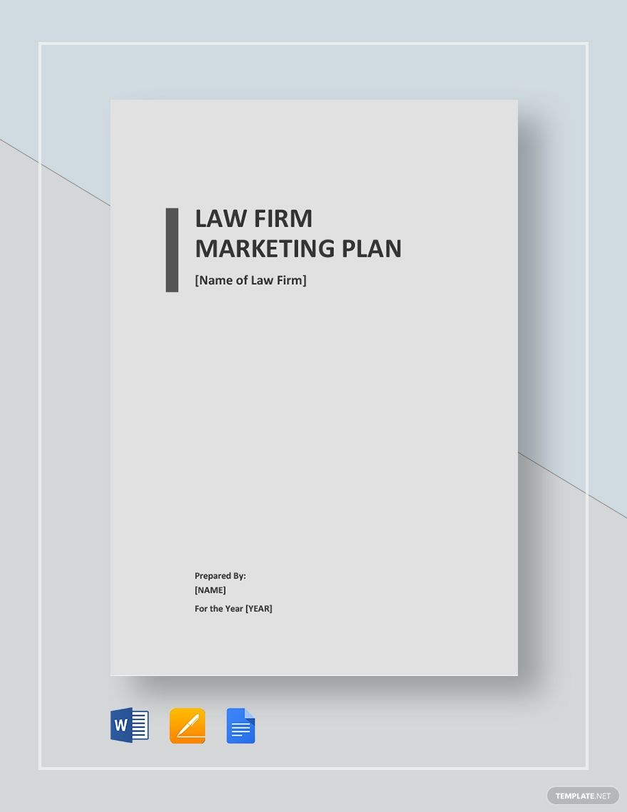 Law Firm Marketing Plan Template Free Pdf Google Docs Word Apple Pages Template Net Law Firm Marketing Marketing Plan Template Marketing Plan Law firm business plan template