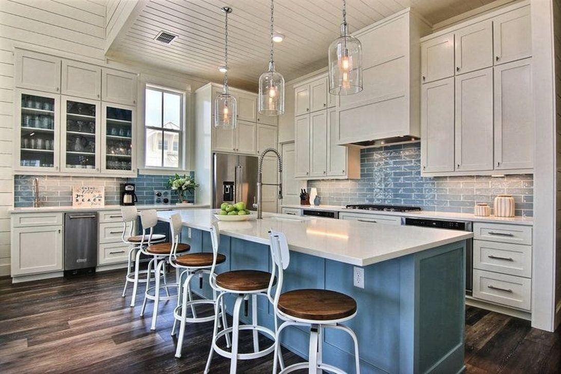 20 Elegant Beach Coastal Style Kitchen Decor Ideas Coastal