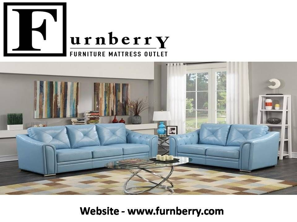 Best Sofa Set 3 Piece Blue Includes Sofa Loveseat And 640 x 480