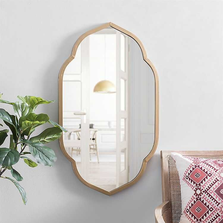 Gold Scalloped Wall Mirror 20x36 In From Kirkland S Vintage Mirror Wall Mirror Wall Gold Mirror Wall 20 x 36 mirror