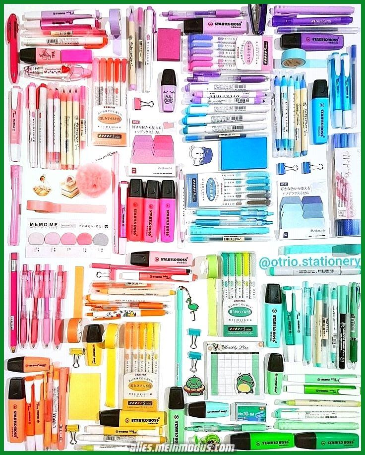 Photo of Incredible color coordinated office supplies …