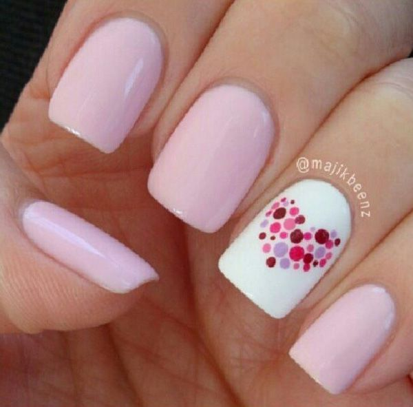 70+ Heart Nail Designs | Art and Design - 70+ Heart Nail Designs Makeup, Manicure And Nails Inspiration