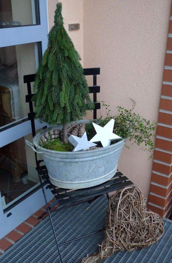 Weihnachtsdeko Hauseingang breitet festliche Stimmung aus - 44 Outdoor Dekoideen #decorationentrance