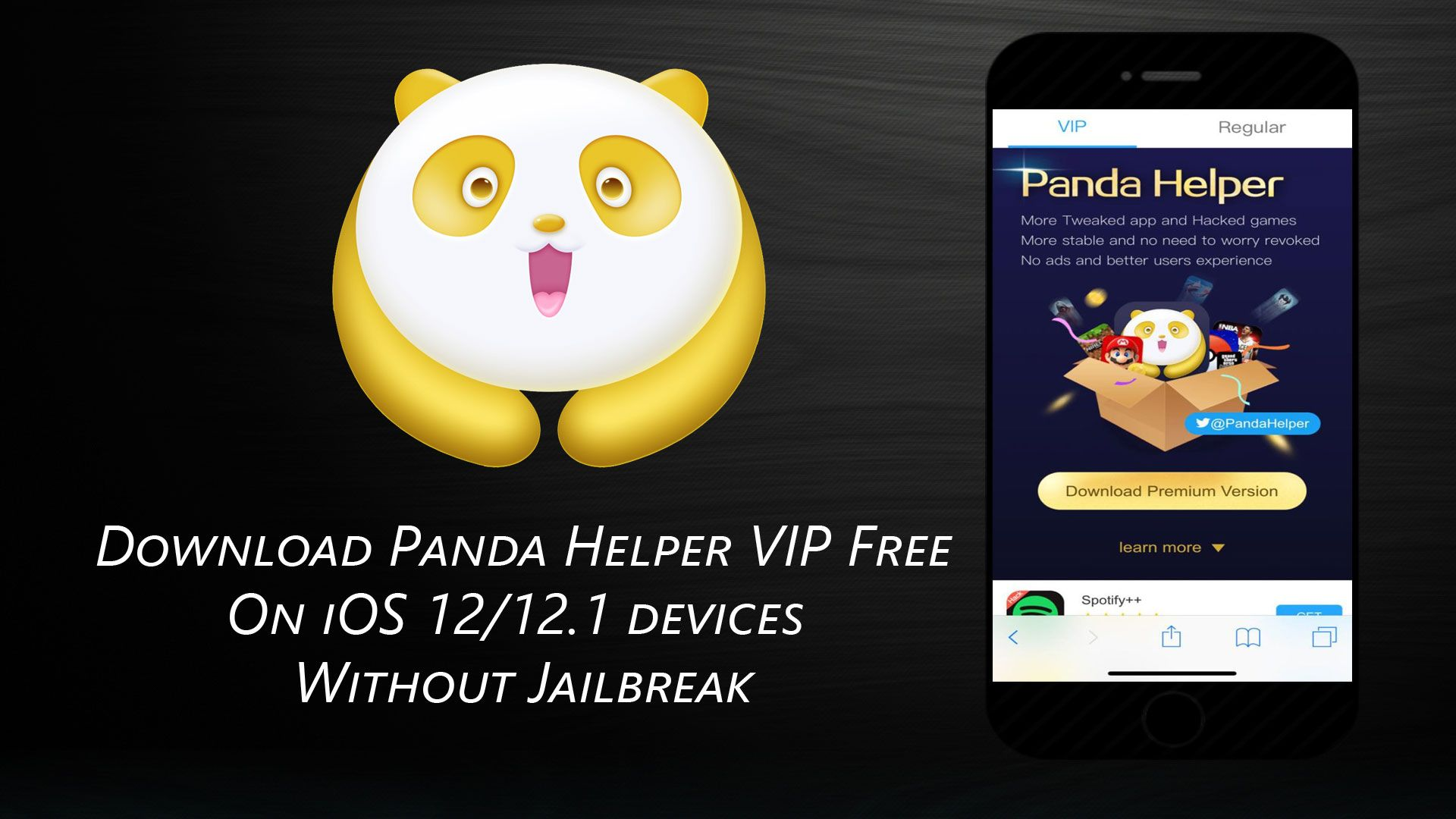 New! Get panda helper VIP free on your iOS 12 device without