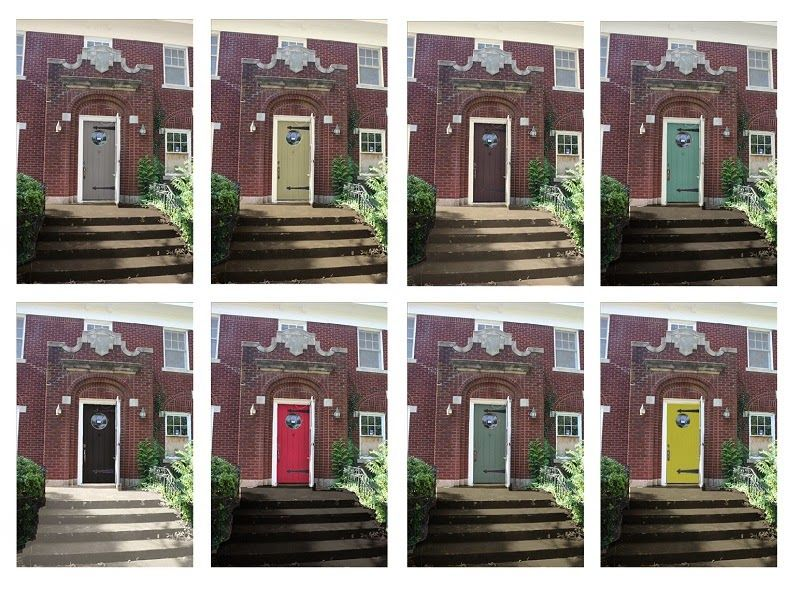 Front Door Paint Colors Red Brick House
