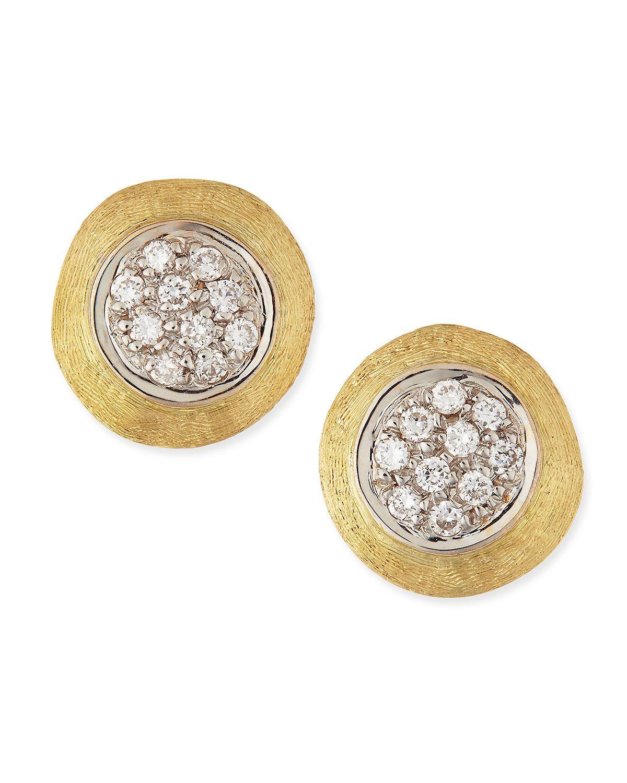 Marco Bicego Jaipur 18k Gold Diamond Stud Earrings BbyMjIY