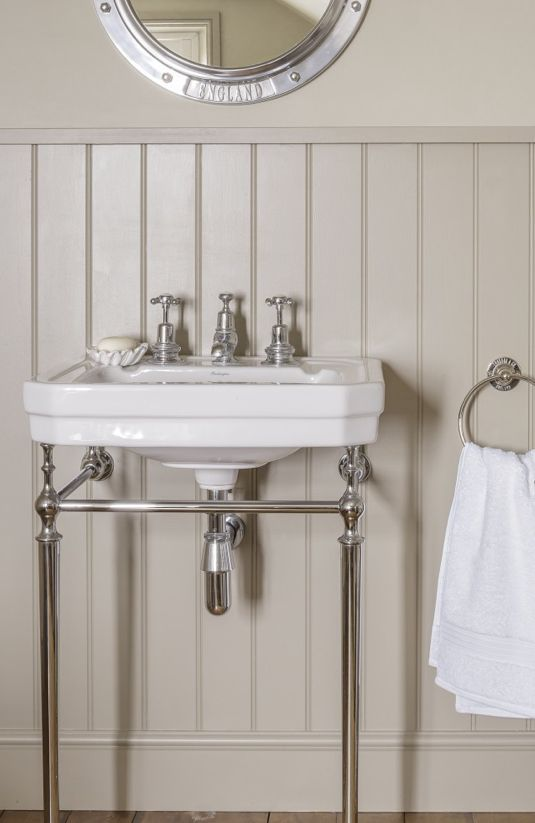 Simple Tongue And Groove Painted Panelling Good Idea For The Basin In The Bathroom With Images Nautical Bathroom Accessories Bathroom Decor Accessories Neutral Bathroom