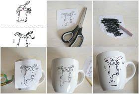 Craftberry Bush: Draw your own ceramic bunny mug ( free printables)