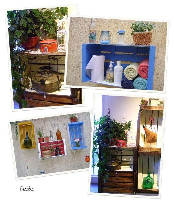 Prestatgeries decoraci i organitzaci cajones - Cajones de madera para frutas ...