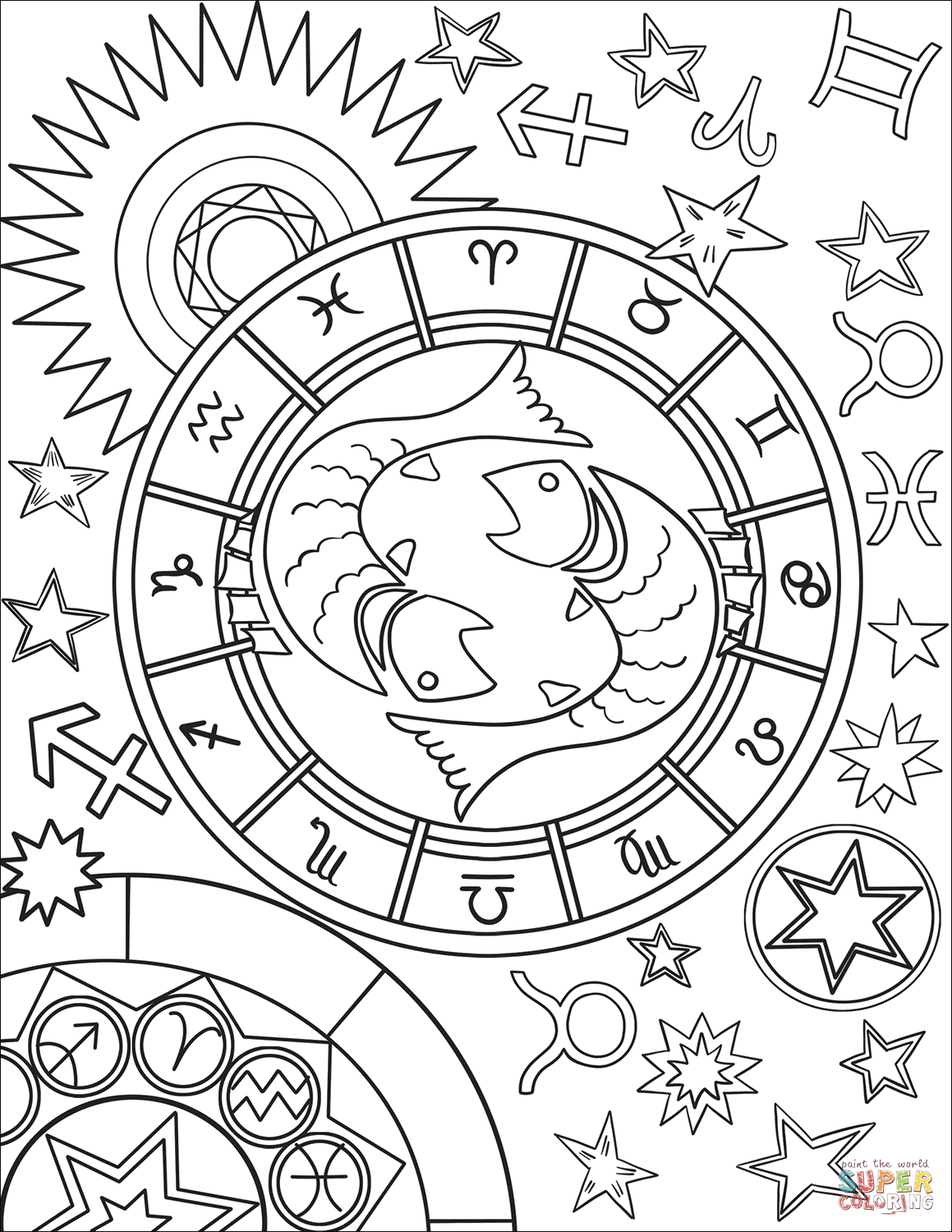 Zodiac coloring pages yahoo image search results