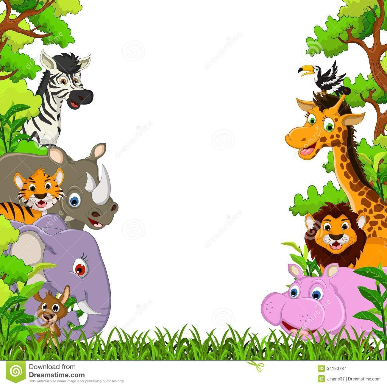 Image for Free Jungle Animal Clipart Cartoon Images Cute