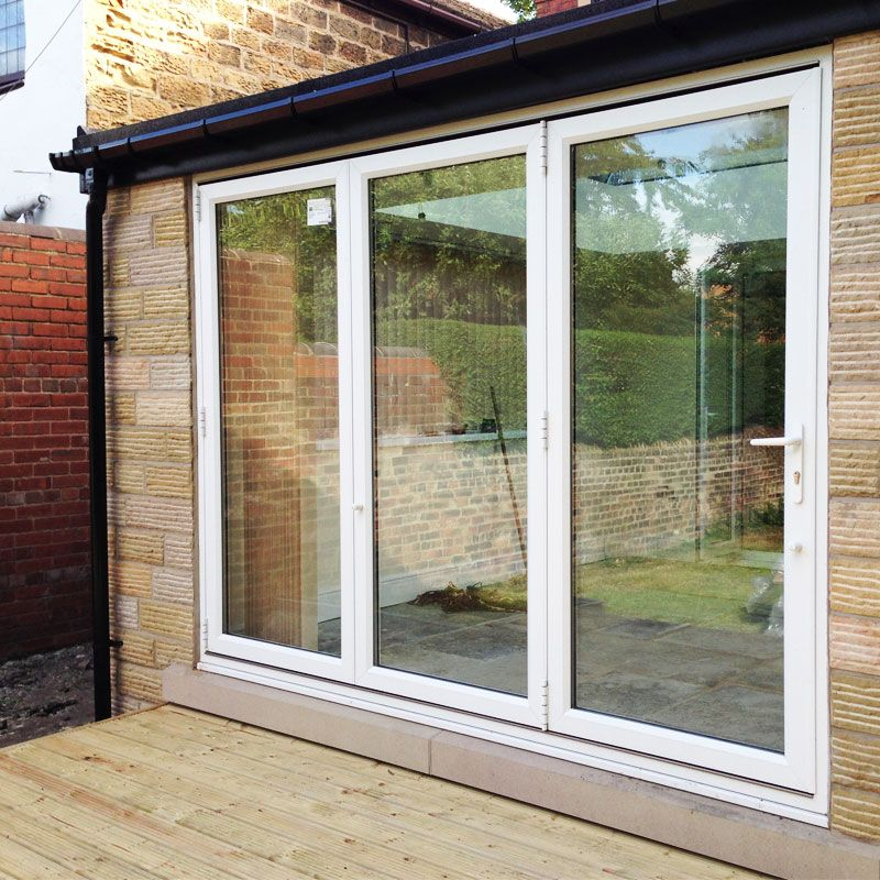 8ft upvc folding doors flying doors extension ideas for Folding patio doors