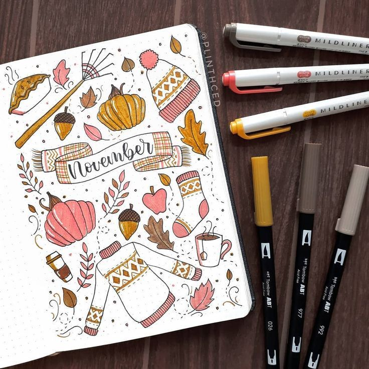 "Plinth | Bullet Journal on Instagram: ""still gonna go with an autumn theme for november even though we only experience amihan haha"
