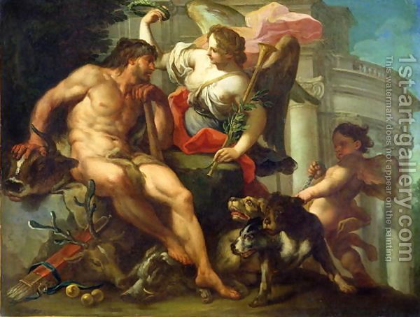 Hercules Crowned By Fame Baroque Movement Paintings Hercules