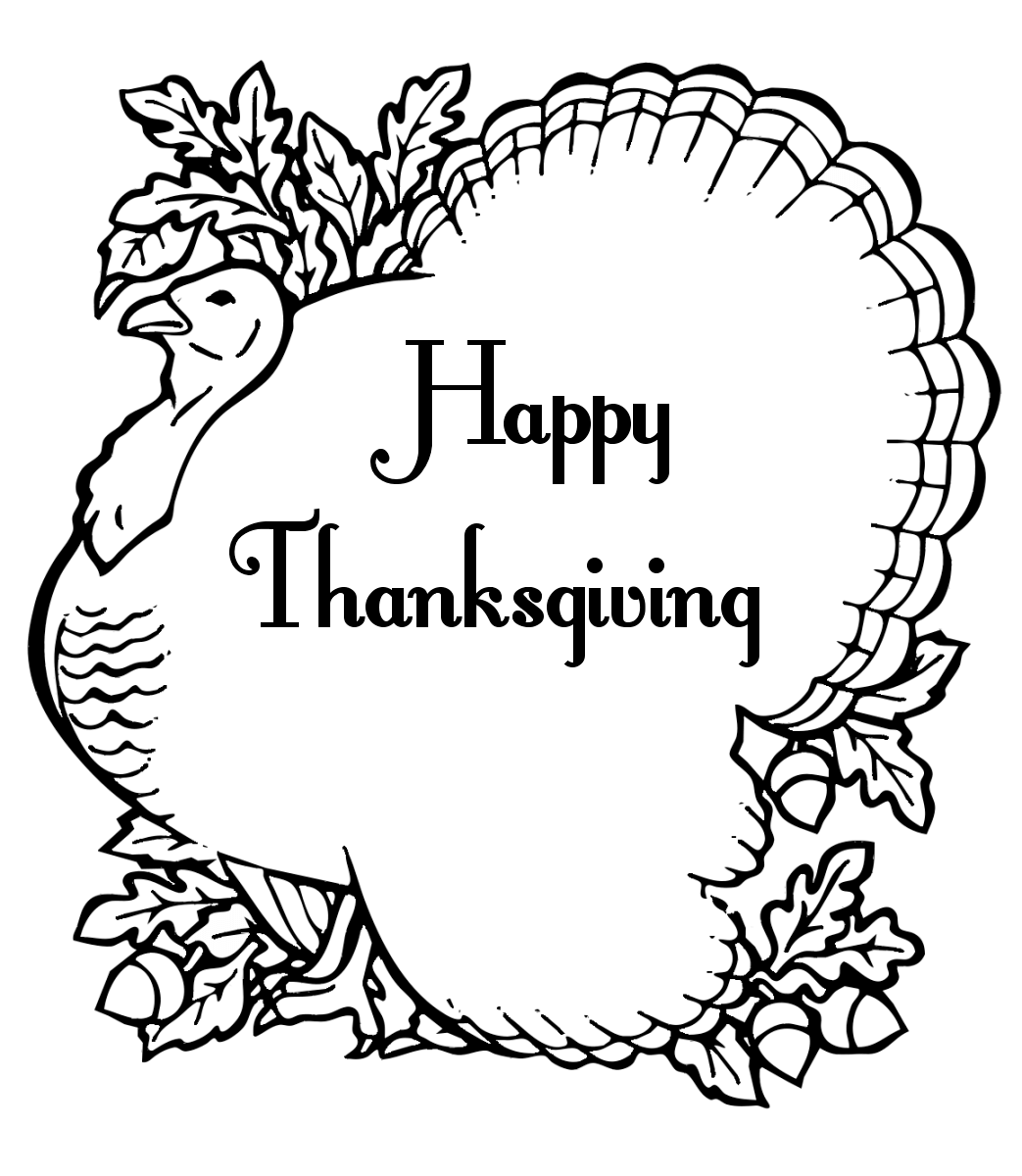 Cool Thanksgiving Coloring Pages For Children | Pinterest ...