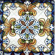 Spanish Teruel Hand Painted Ceramic Tile | Paint ceramic tiles ...