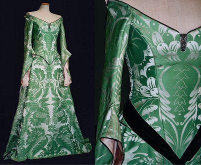 Green medieval wedding dresses images for Celtic wedding dresses for sale