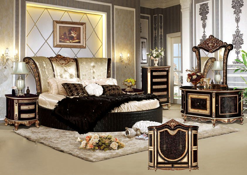 China Antique Bedroom Furniture With Antique Bed And Cabinet (W801#) Photos  U0026 Pictures