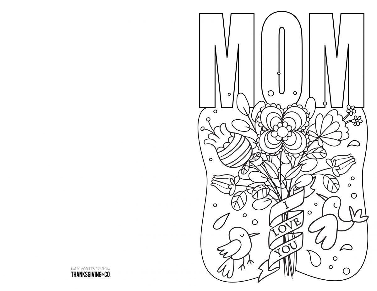 4 Free Printable Mother S Day Ecards To Color Mothers Day Card Template Birthday Cards For Mom Birthday Card Template