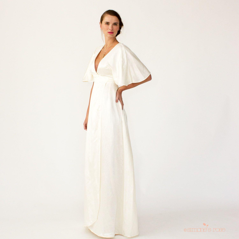 Lotus Eco Wedding Dress Minimalist Resort Alternative Wedding