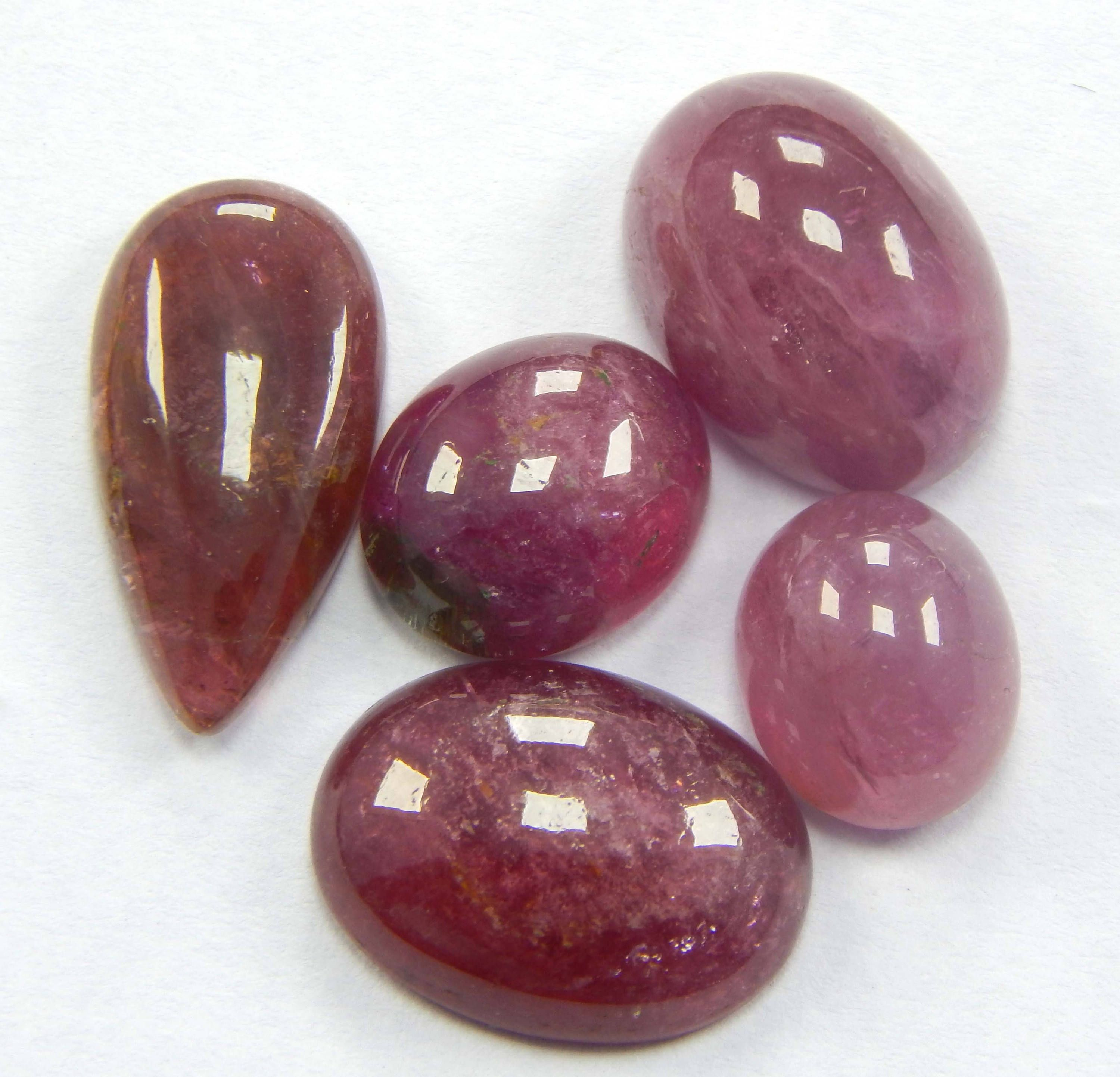 Loose Tourmaline Cabochons in Bright Colours Natural Gemstones in Mixed Shapes