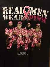 Duck Dynasty Duck Commander Real Men Pink Wear T-shirt Sz M