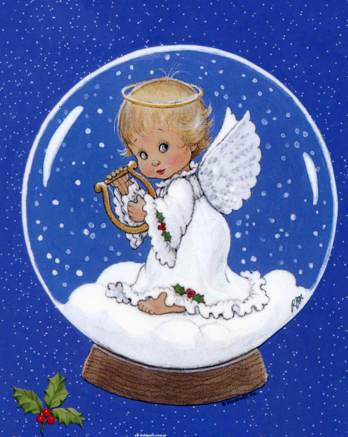 Открытка с ангелом к рождеству, добрым утром скучаю