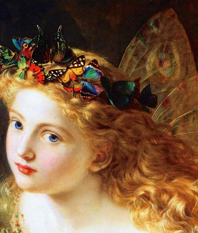 """the-garden-of-delights:  """"Take the Fair Face of Woman"""" (1869) (detail) by Sophie Anderson (1823-1903)."""