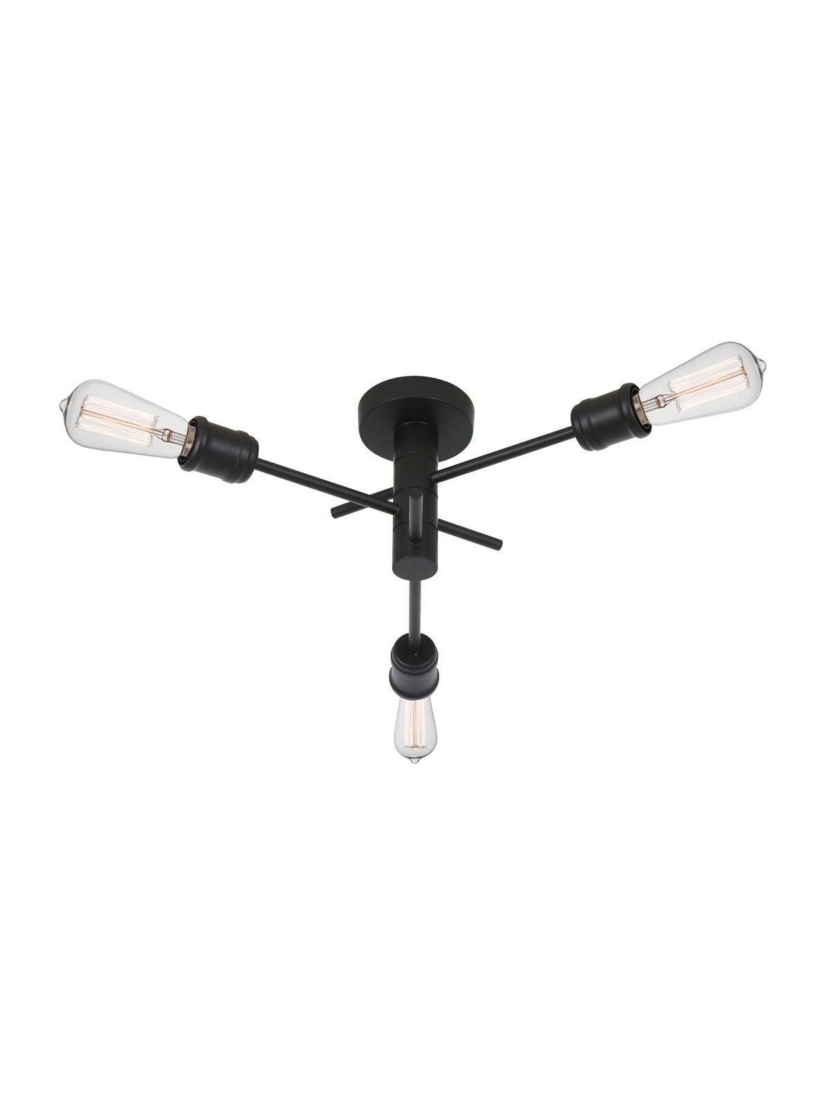 Nova 3 Light Pendant In Black