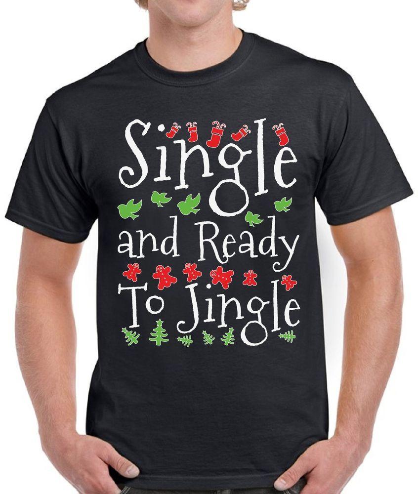 25fc15c36c08 Men s Ugly Christmas T Shirt Single Jingle Christmas Shirt Gifts for Single  Men  fashion  clothing  shoes  accessories  mensclothing  shirts (ebay link)