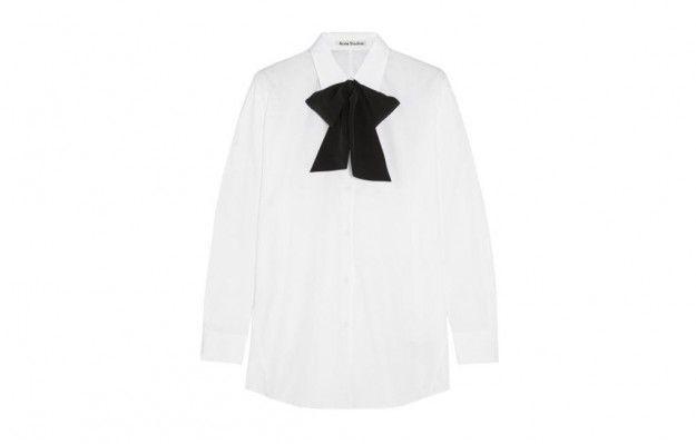 Acne Studios camicia con fiocco - Camicia con fiocco nero corto tra le tendenze moda autunno/inverno 20152016
