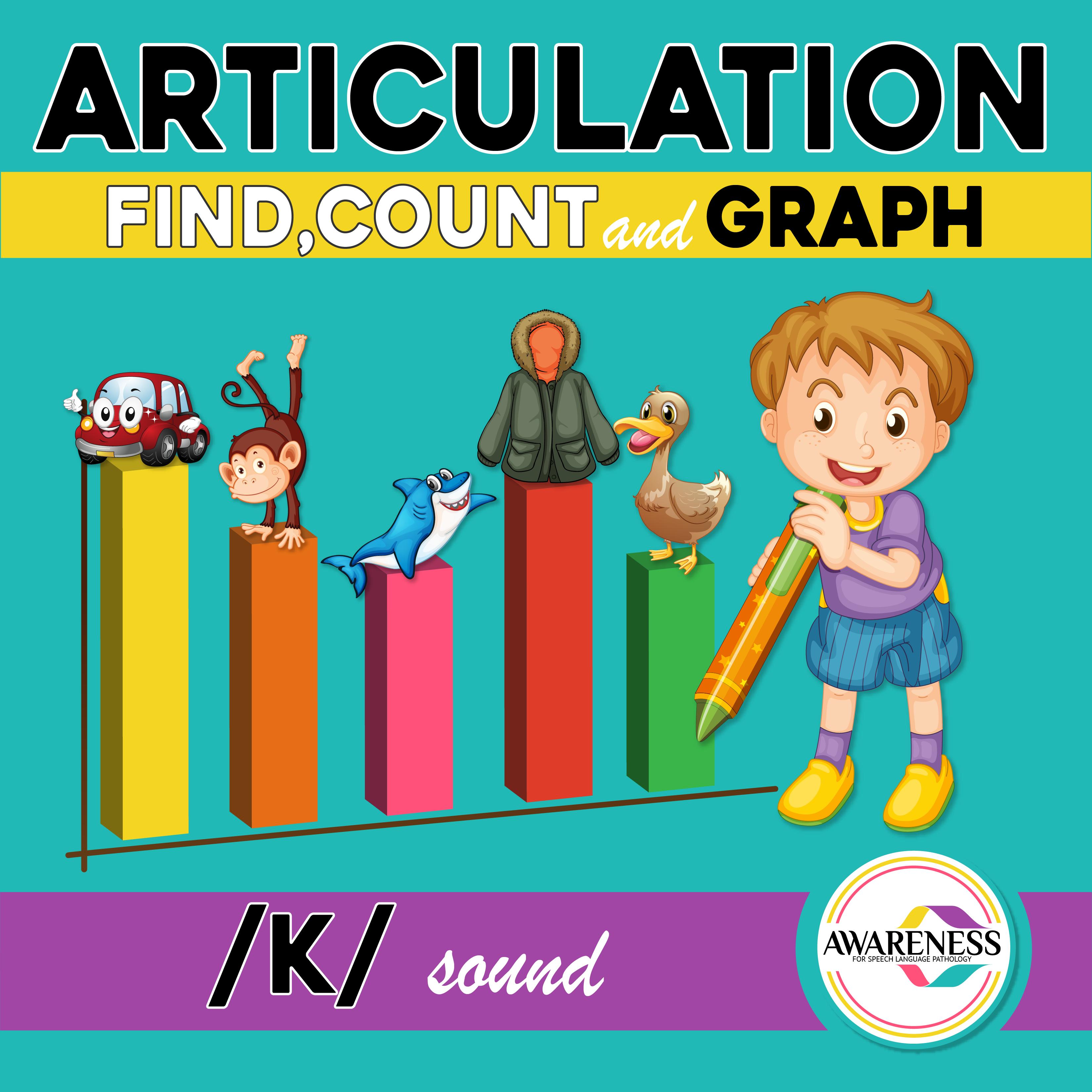 K Articulation Activity K Sound Count Amp Graph No Prep